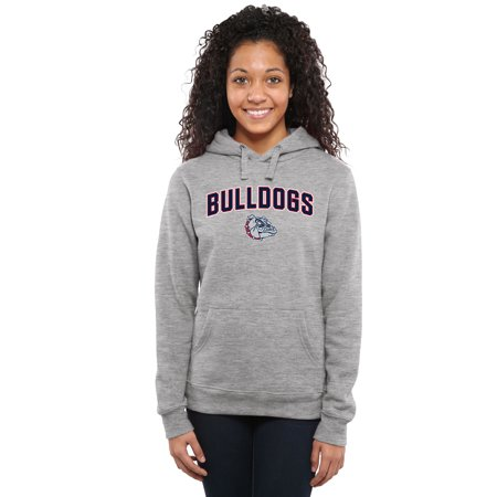 Gonzaga Bulldogs Women's Proud Mascot Pullover Hoodie - Ash - - Bulldog Mascot