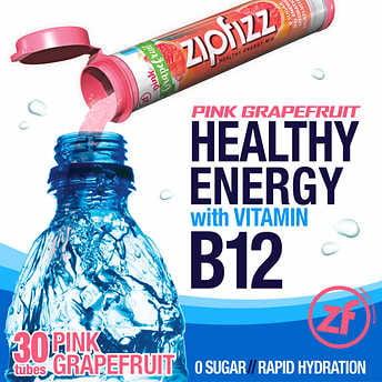 Zipfizz Healthy - Zipfizz Healthy Energy Drink Mix, 30 Tubes Pink Grapefruit