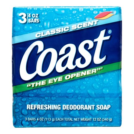 Coast Bar Soap Classic Pacific Force Scent - 3 CT