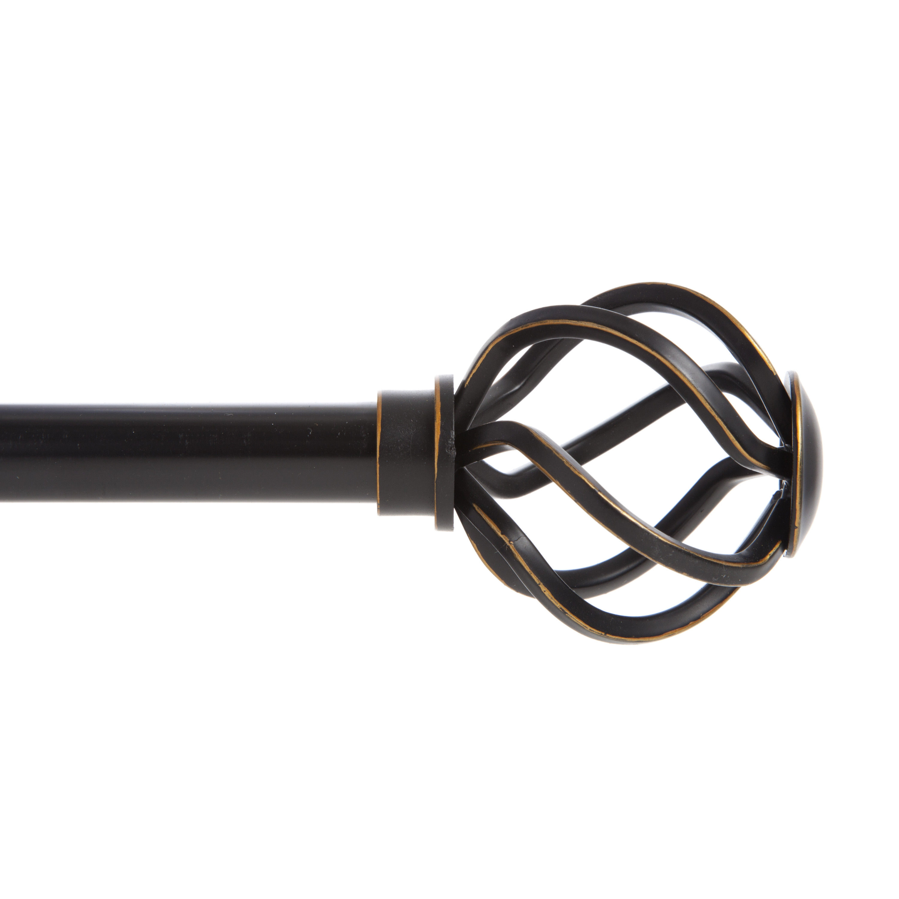 "Better Homes & Gardens 5/8"" Cage Decorative Curtain Rod, 48-84"", Oil Rubbed Bronze"