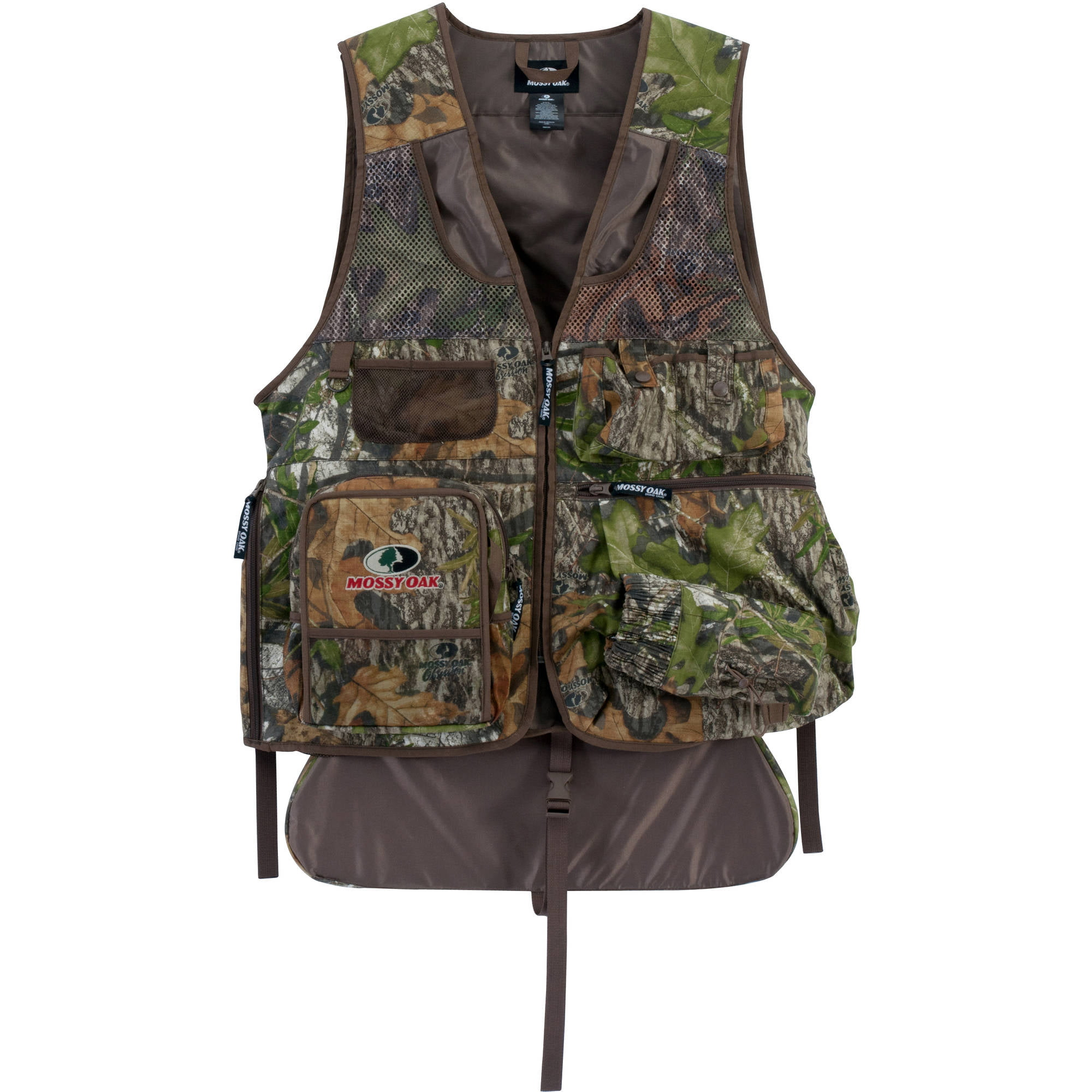 Men's Camo Turkey Vest with Cushioned Seat by Mossy Oak