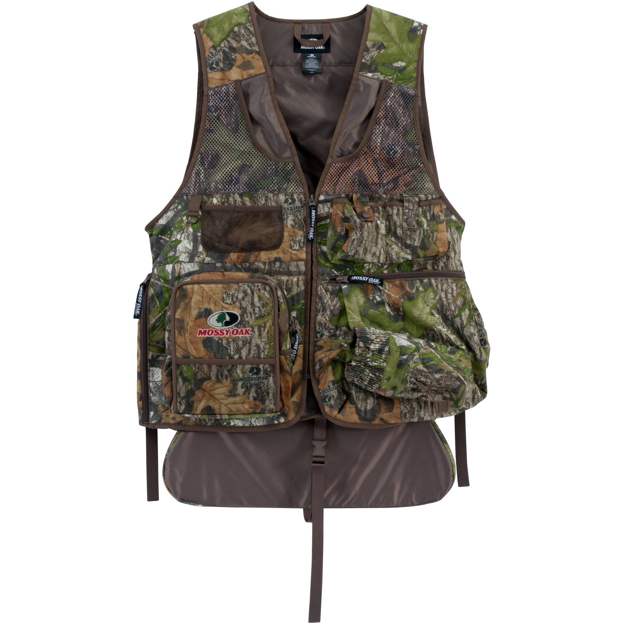 Mossy Oak Men's Camo Turkey Vest with Cushioned Seat