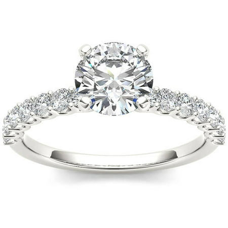 1 Carat T.W. Diamond Classic 14kt White Gold Engagement Ring