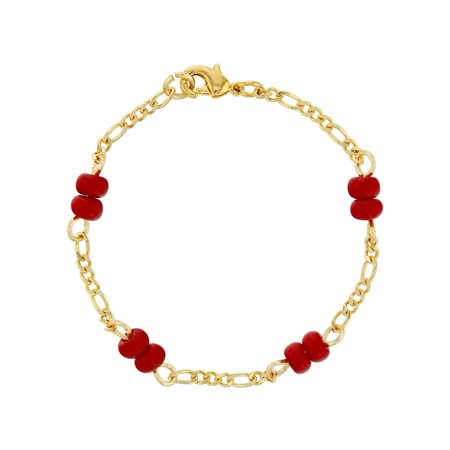 18k Gold Plated Red Bracelet for Baby Evil Eye Protection Newborn -