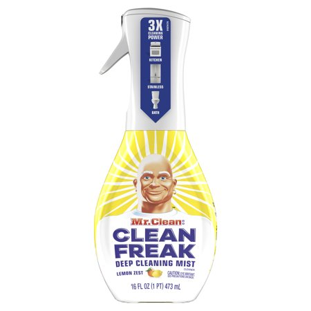 Mr. Clean, Clean Freak Deep Cleaning Mist Multi-Surface Spray, Lemon Zest Scent Starter Kit, 1 count, 16 fl (Ceran Top)