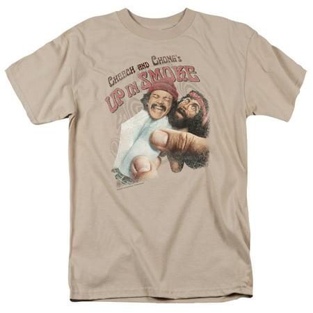 Cheech & Chong Men's  Rolled Up T-shirt Sand (Cheech And Chong Halloween Girls)