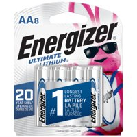 Energizer Ultimate Lithium AA Batteries, 8 Pack