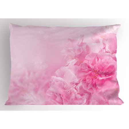 Light Pink Pillow Sham Spring Flowers Close Up View Florets Bouquet Beauty Wedding Shabby Chic Print, Decorative Standard Queen Size Printed Pillowcase, 30 X 20 Inches, Baby Pink, by (Shabby Chic Wedding Card)