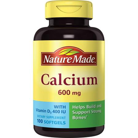Nature Made Calcium 600 mg Complément alimentaire gélules - 100 CT