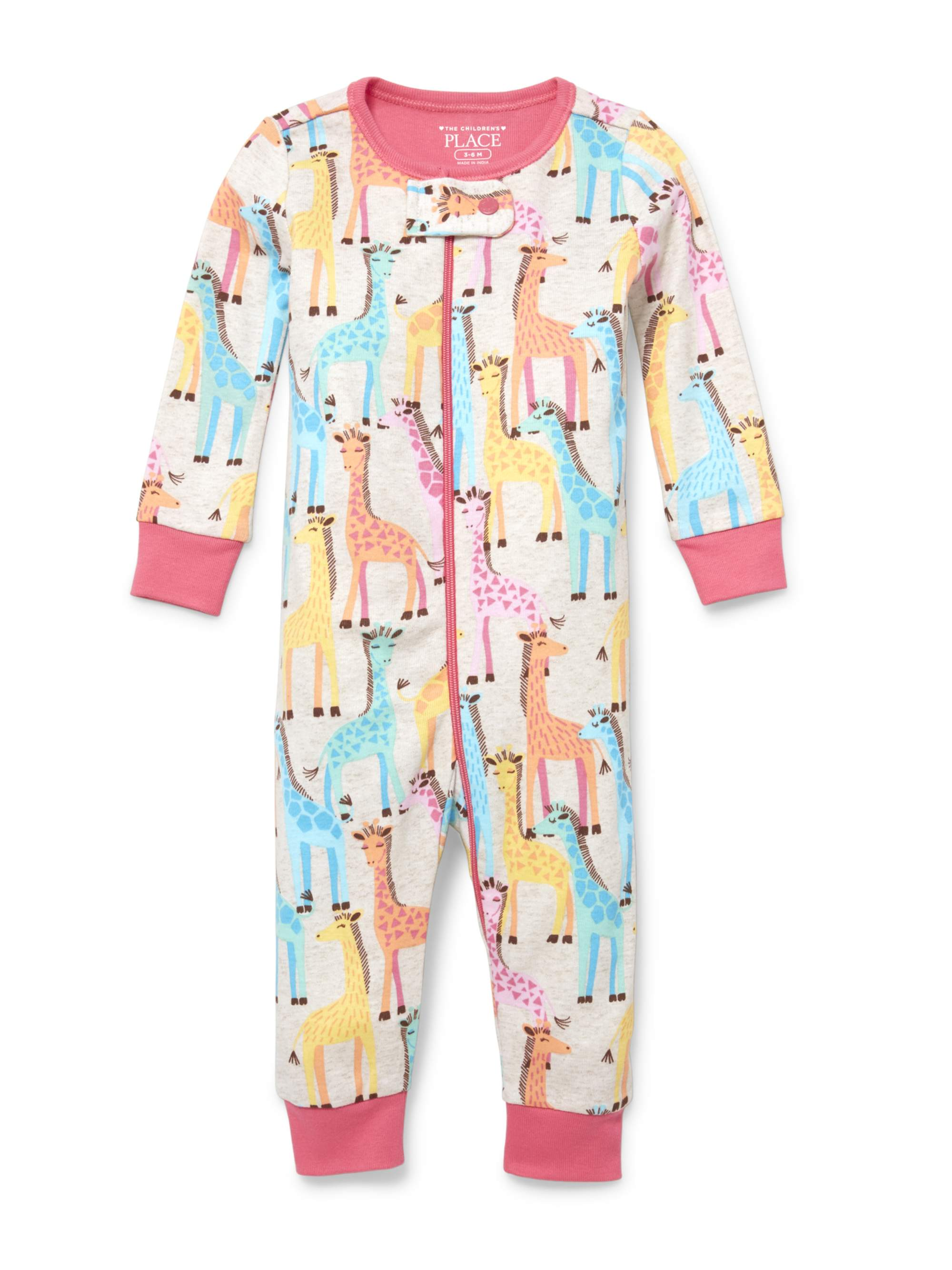 Baby And Toddler Girls Giraffe Print Stretchie (Baby and Toddler Girls)