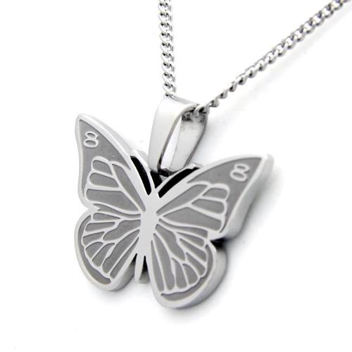 Classic Butterfly Necklace Stainless Steel Necklace