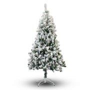 perfect holiday 5 snow flocked artificial christmas tree - Half Christmas Trees