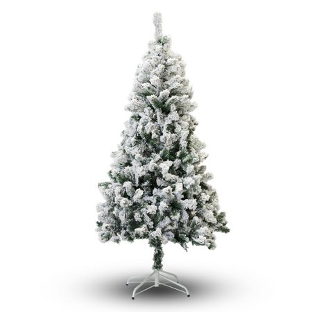 Perfect Holiday 5' Snow Flocked Artificial Christmas Tree ...