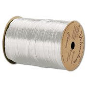 Deluxe Small Business Sales 263-2-9 0.25 in. x 100 yds. Pearlized Wraphia Ribbon, White
