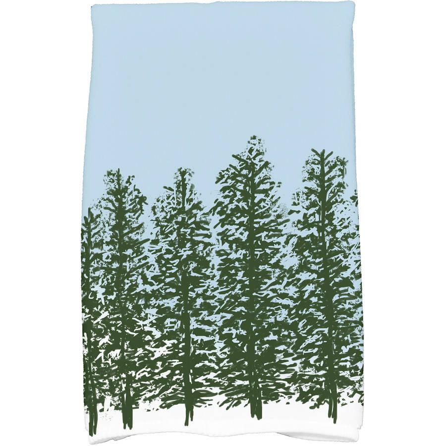 Hidden Forrest Floral Print Kitchen Towel by E By Design