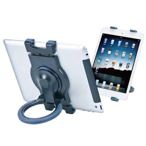 Premium Black Tablet Stand Desktop Fold-up Travel Portable Holder Dock K4R for Amazon Fire HD 10 8, Kindle DX Fire HD 6 7 8.9 HDX 7 8.9 - iPad 4 Mini 3 4, Pro 9.7 - LG G Pad 10.1 7.0 8.0 8.3 F 8.0