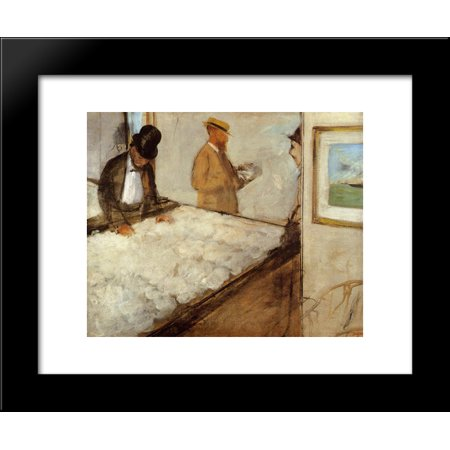 Cotton Merchants in New Orleans 20x24 Framed Art Print by Edgar Degas (Halloween Weather New Orleans)