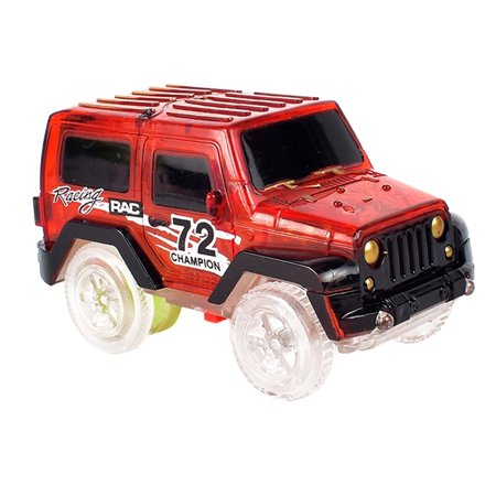 New Child Toy Car LED Light Up Jeep Cars Glow in the Dark Racing Track Accessories for Boys Girls (Car Accessories Girly)