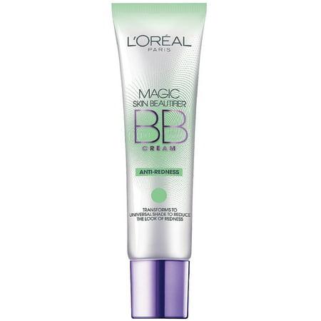 L'Oreal Paris Magic Skin Beautifier BB Cream, Anti-Redness 1 oz (Pack of