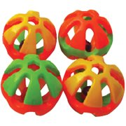 A&E Cage HB41103 Round Rattle Foot Bird Toy - Large