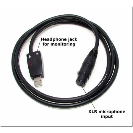 SP-USB-MICROPHONE-CABLE - Sound Professionals  - USB to XLR Female Microphone Cable with Headphone Monitor - Its A Soundcard in A