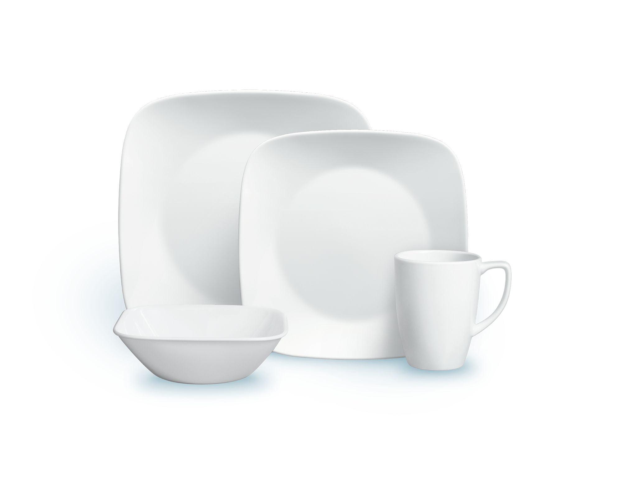 Corelle Square Pure White 20 Piece Dinnerware Set