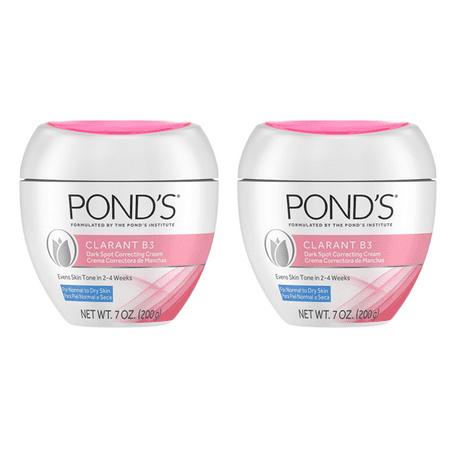 (2 pack) Pond's Correcting Facial Cream Clarant B3 Cream Dark Spot Corrector for Dry Skin 7 oz