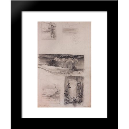 Russian Landscape - Motives of the Russian landscape 20x24 Framed Art Print by Aleksey Savrasov
