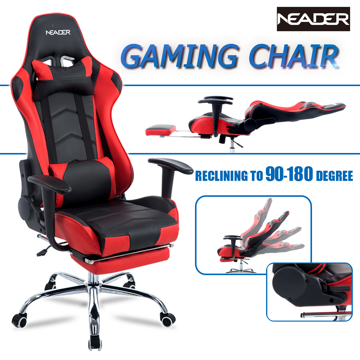 office recliner chair. High Back Computer Racing Gaming Chair, Ergonomic Executive Home Office Reclining Chair With Footrest, Recliner A