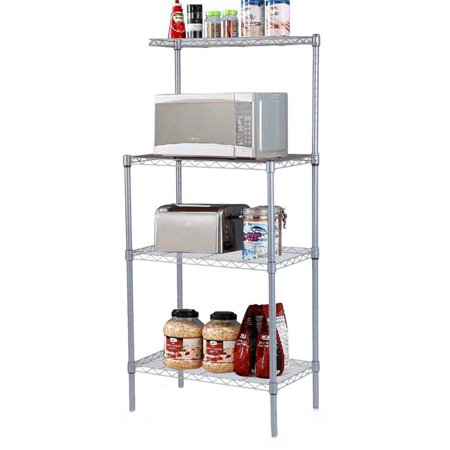 3 Tier Microwave Stand Storage Rack, Kitchen Wire Shelving Microwave Oven  Baker's Rack for Bedroom Living Room