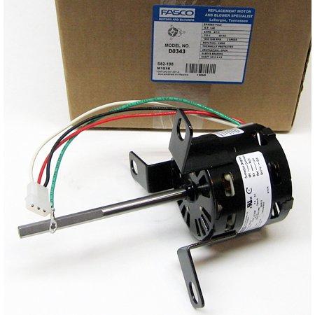 Fasco Fan Motor D0343 for Penn Ventilator 56343-0 Zephyr - Fasco Fan Motors
