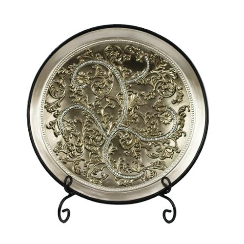 D'Lusso Designs Alana Collection Large Plate With Stand