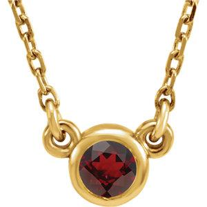 "14K Yellow Mozambique Garnet 16"" Necklace by"