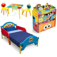Deals on Sesame Street Bedroom Set with BONUS Toy Organizer