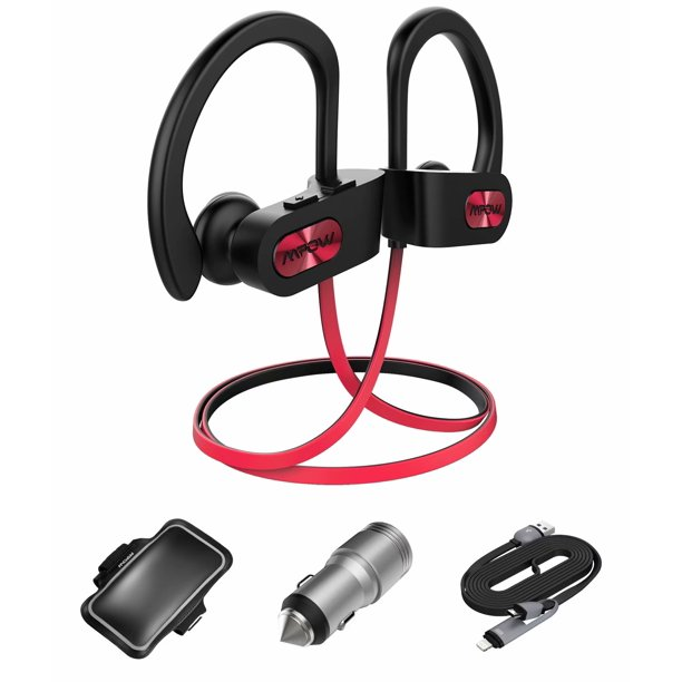 Mpow Flame Bluetooth Headphones With Armband Car Charger 2 In 1 Charging Cable Nbsp Waterproof Ipx7 Wireless Earbuds Sport Richer Bass Hi Fi Stereo In Ear Earphones W Mic Walmart Com Walmart Com
