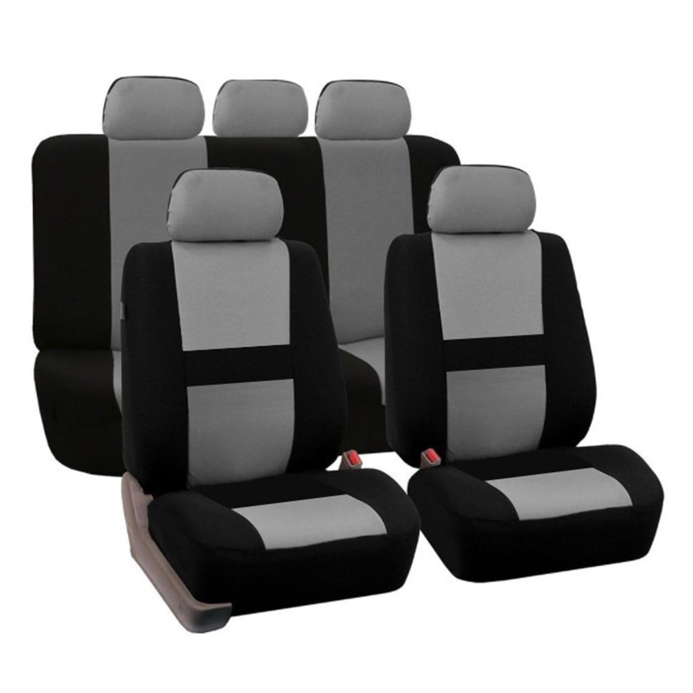 OUTAD 9 Pcs Set Four Seasons Universal Car Seat Cushions Automobiles Covers