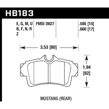 Hawk 01 Ford Mustang Bullit / 94-99 & 01 & 03-04 Mustang
