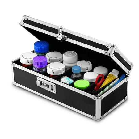 - Zimtown Pills Tank Gather Locking Medicine Storage Organizer Black High Quality Aluminum Alloy Tank Storage Box