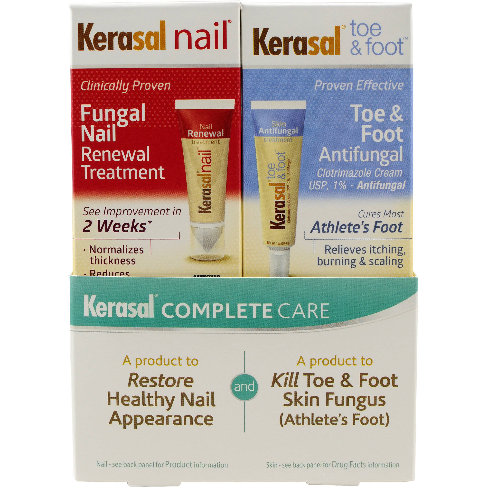 3 Pack Kerasal Toe & Athletes Foot Clotrimazole Cream Skin ...