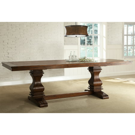 Trestle Farm Table - Weston Home Marie Louise Extendable Trestle Base Dining Table with 18