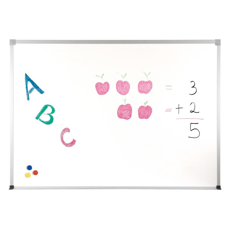"2H2NA Balt ABC Markerboard - 24"" Width x 18"" Height - White Porcelain Steel Surface - Anodized Aluminum Frame - Film - 1 Each"