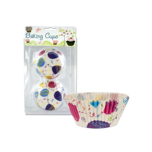 Bulk Buys PA021-72 Happy Birthday Baking Cups