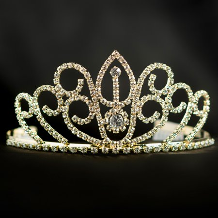 Gold Tiaras And Crowns (Gold Jeweled Perfection Tiara)