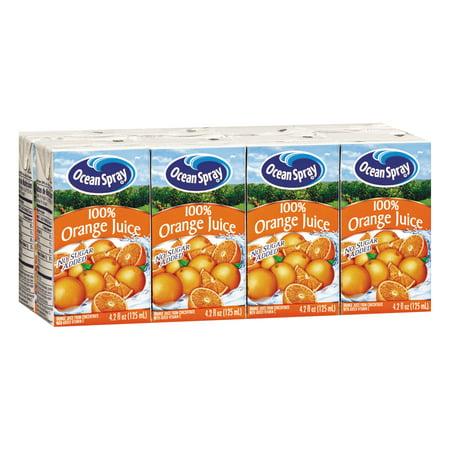 Ocean Spray Aseptic Juice Boxes, 100% Orange, 4.2oz, 40/Carton](Orange Alcoholic Drinks Halloween)