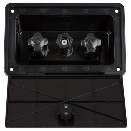 Dura Black 24ga Pipe (Dura Faucet RV Exterior Spray Box - Black )