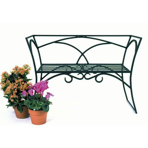 Achla Designs Arbor Bench with Back - 41 in. Wrought Iron