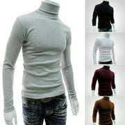 Winter Top Men Slim Warm Cotton High Neck Pullover Jumper Sweater Top Turtleneck
