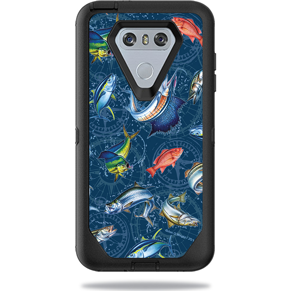 Skin For OtterBox Defender LG G6 Case – Saltwater Compass | MightySkins Protective, Durable, and Unique Vinyl Decal wrap cover | Easy To Apply, Remove, and Change Styles | Made in the USA