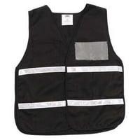 ZORO SELECT 8RT55 Safety Vest,Black,Universal