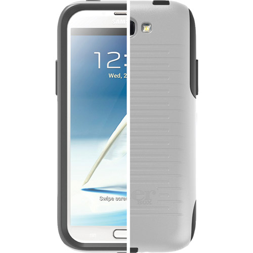 Commuter Series Case for Samsung Galaxy Note 2 - White/Gray